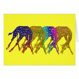 Línea de la jirafa de la edición limitada tarjeta de felicitación