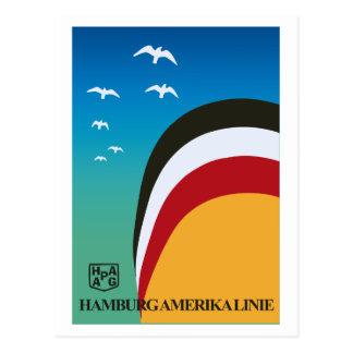 Línea de navegación retra de Hamburgo América del Postal