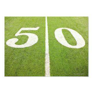 Línea de yardas 50 invitación 12,7 x 17,8 cm