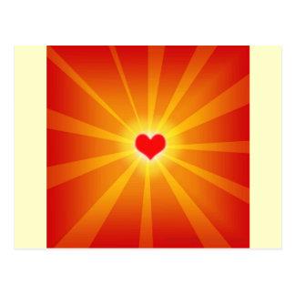 Línea del brillo de la luz del amor postal