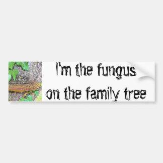 Línea del hongo de la familia pegatina para coche