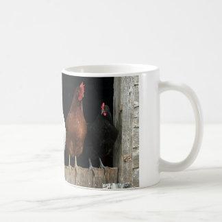 Línea del pollo taza de café