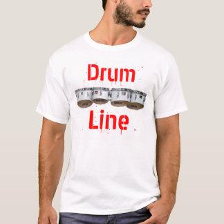 Línea del tambor camiseta