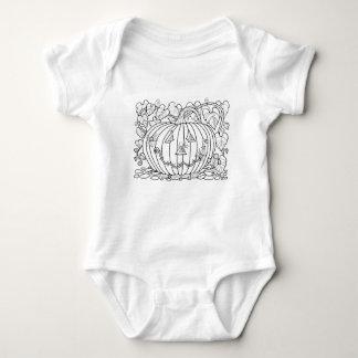 Línea diseño de las arañas de la calabaza de la body para bebé