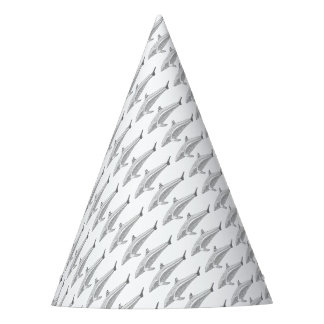 Línea diseño del delfín dos del arte gorro de fiesta