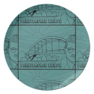 Línea diseño del puente de Pennybacker del arte Plato
