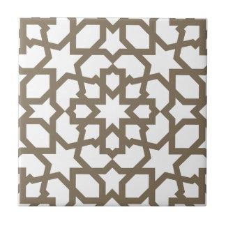 Línea en oro del patrón de mosaico de Marruecos Azulejo Cuadrado Pequeño