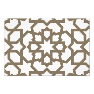 Línea en oro del patrón de mosaico de Marruecos Foto