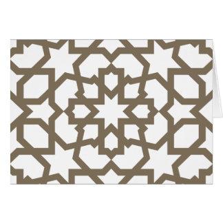 Línea en oro del patrón de mosaico de Marruecos Felicitación