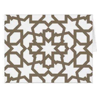 Línea en oro del patrón de mosaico de Marruecos Felicitaciones