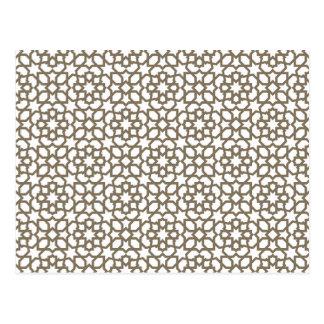 Línea en oro del patrón de mosaico de Marruecos Postal