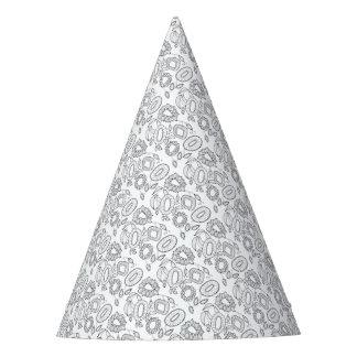 Línea floral caprichosa diseño del aerosol del gorro de fiesta