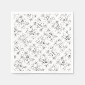 Línea floral diseño del aerosol tres del arte servilleta de papel