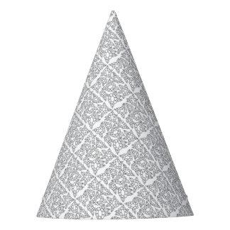 Línea floral diseño del arte gorro de fiesta