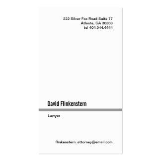 Línea gris simple tarjeta de visita vertical