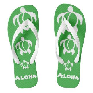 """LineA """"hawaiana"""" Honu blanco Chanclas"""