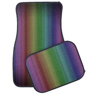Línea modelo de la raya de la roca del arco iris alfombrilla de coche