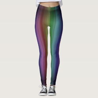 Línea modelo de la raya del punk rock del arco leggings