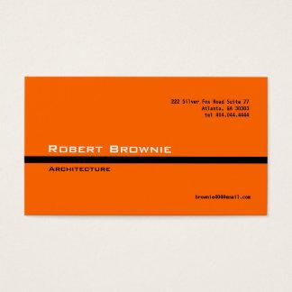 Línea negra anaranjada clásica tarjeta de visita