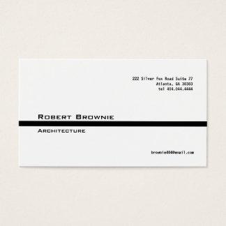 Línea negra clásica tarjeta de visita