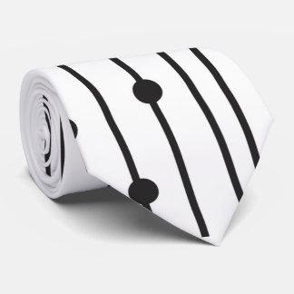 Línea negra y blanca simple lazo del modelo corbatas personalizadas