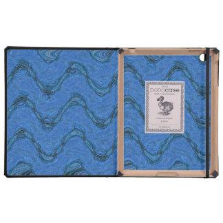 Línea ondulada azul modelo iPad fundas