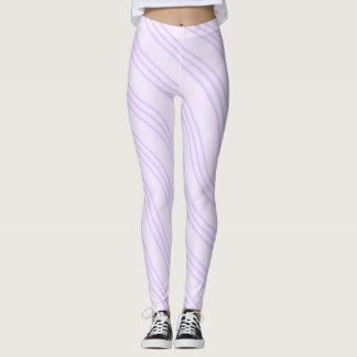 Línea ondulada púrpura modelo de la lavanda leggings