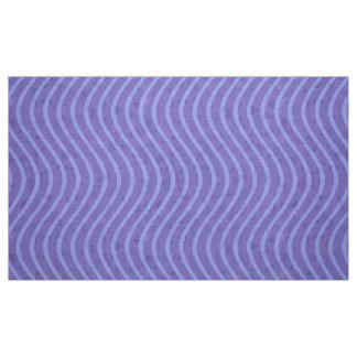 Línea ondulada púrpura y azul modelo tela