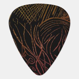 Línea púa de guitarra del frenesí (edición