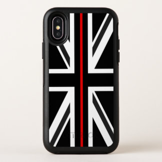 Línea roja fina bandera de Reino Unido
