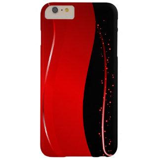 Línea roja y negra abstracta funda barely there iPhone 6 plus