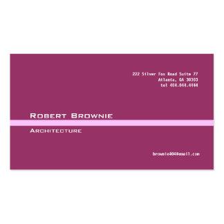 Línea rosada marrón clásica tarjeta de visita
