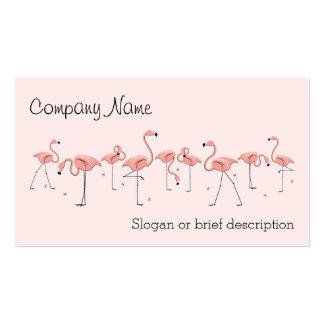 Línea rosada tarjeta de los flamencos de visita tarjeta personal