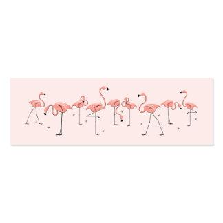 Línea rosada texto del flamenco del lado de la tarjeta de visita