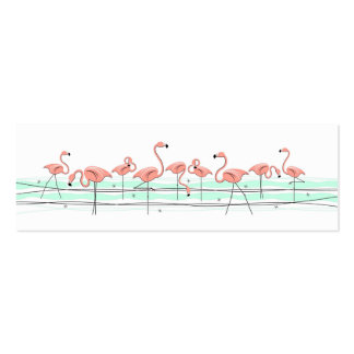 Línea texto de los flamencos del lado de la tarjetas de visita mini