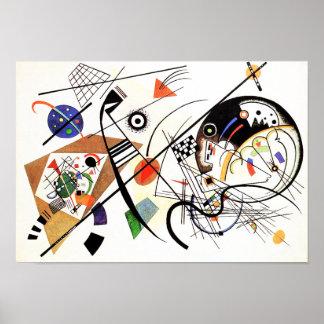 Línea transversal poster de Kandinsky Póster