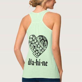 LineA Wa·hola·tatuaje del corazón del ne Camiseta De Tirantes Cruzados Holgada