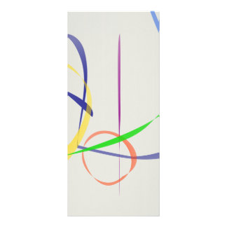 Líneas abstractas coloridas tarjeta publicitaria a todo color