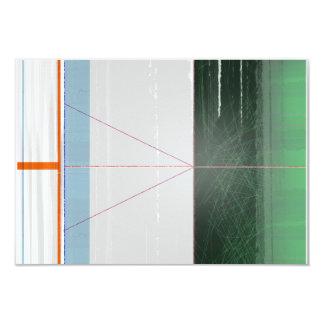 Líneas anaranjadas abstractas comunicado personalizado