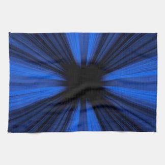 Líneas azules de la velocidad paño de cocina