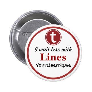 Líneas botón - diseño 1 (blanco)