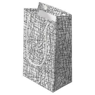 Líneas caóticas bolsa de regalo pequeña