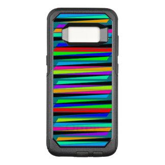 Líneas coloridas abstractas funda otterbox commuter para samsung galaxy s8