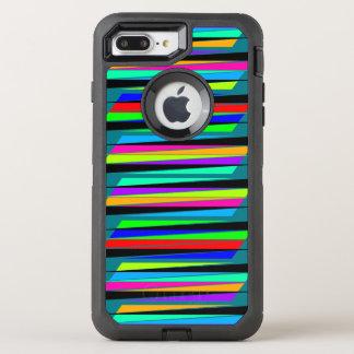 Líneas coloridas abstractas funda OtterBox defender para iPhone 7 plus