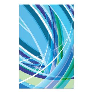 Líneas coloridas azules fondo folleto 14 x 21,6 cm