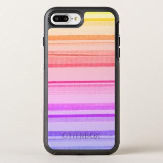 Líneas coloridas de las rayas funda OtterBox symmetry para iPhone 7 plus