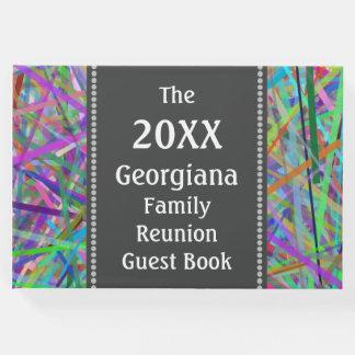 Líneas coloridas libro de visitas de la reunión de