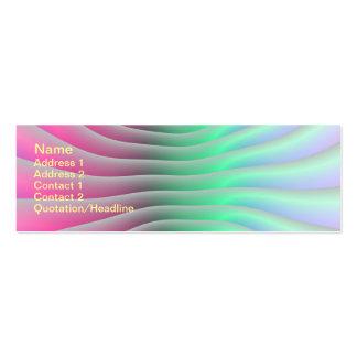 Líneas de contorno tarjeta de visita
