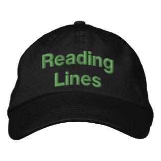 Líneas de ferrocarril de la lectura gorra bordada