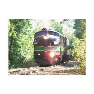 Líneas de ferrocarril de la lectura locomotora impresión en tela